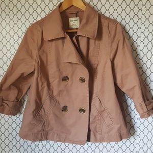 Dusty Rose Old Navy Double Breasted Jacket SZ L